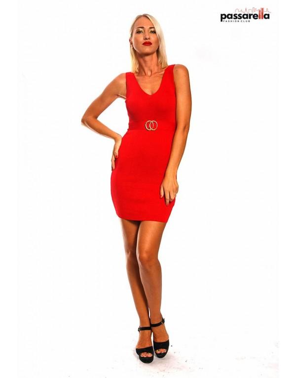Φόρεμα ριπ με ζώνη