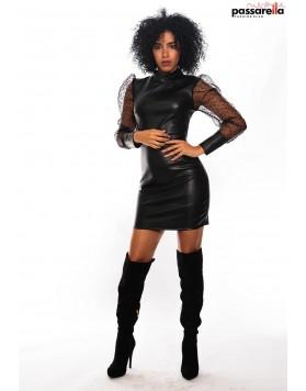 Φόρεμα fake leather
