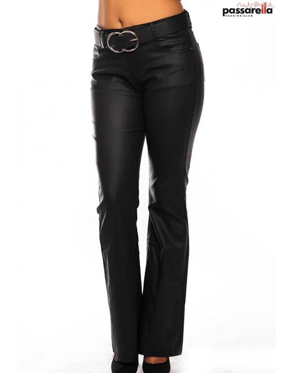 Παντελόνι fake leather καμπάνα