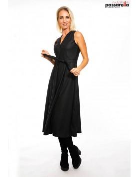 Φόρεμα fake leather maxi