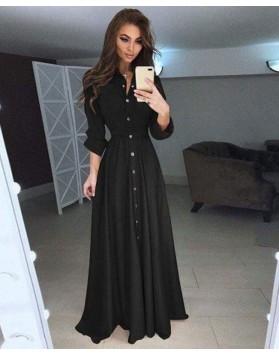 Φόρεμα μάξι κουμπιά