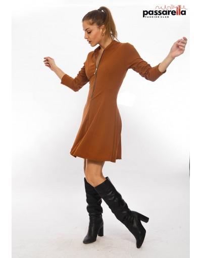 Φόρεμα μίνι φερμουάρ