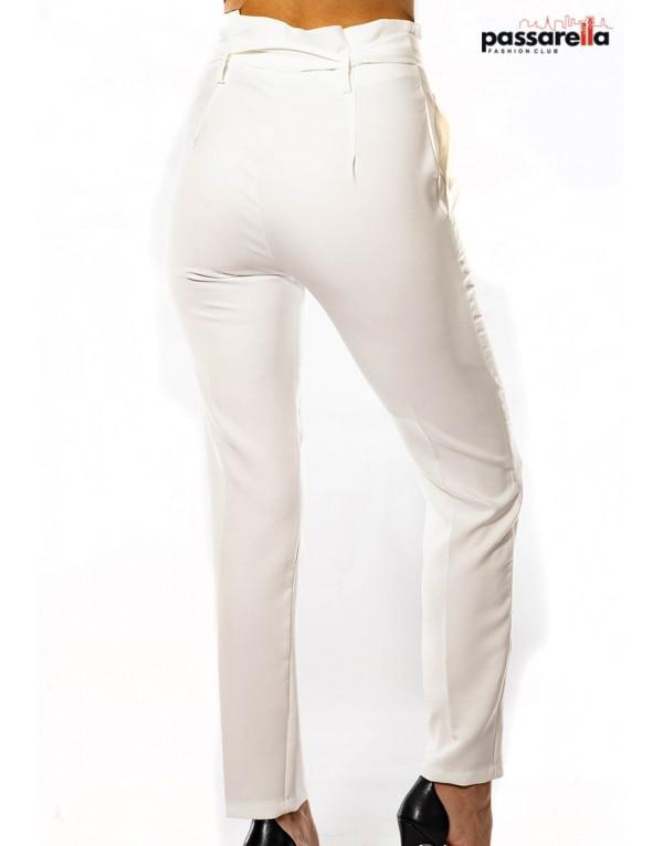 Παντελόνι ψηλόμεσο λευκό