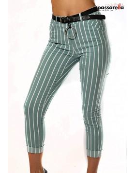 Παντελόνι ριγέ με ζώνη