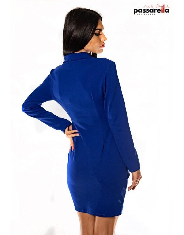 Φόρεμα με κουμπιά ΜΠΛΕ