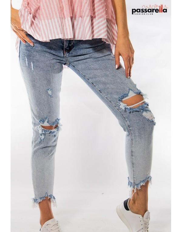 Παντελόνι jean σκισίματα