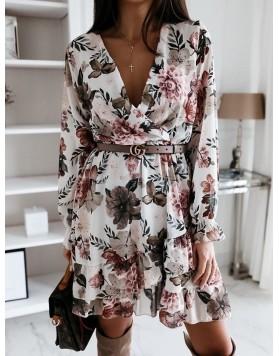 Φόρεμα floral κρουαζέ