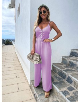 Ολόσωμη φόρμα τιράντα ΡΟΖ