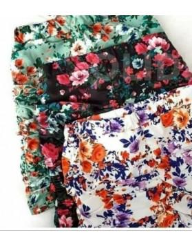 Φούστα floral mini ΜΑΥΡΟ