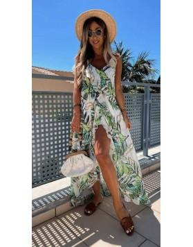 Φόρεμα Μάξι Floral GREEN