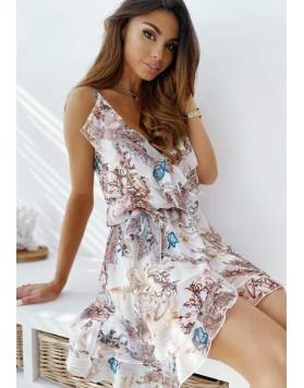 Φόρεμα βολάν μίνι ΜΠΕΖ