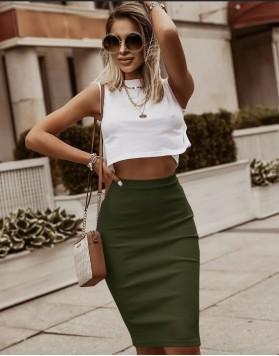Σετ τοπ με φούστα