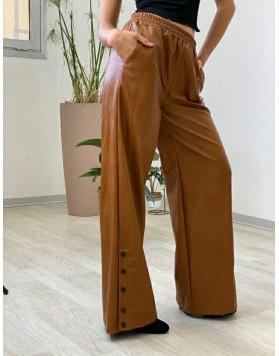 Παντελόνα καμπάνα fake leather