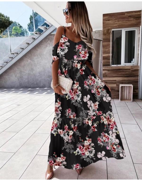 Φόρεμα μάξι floral MAYPO