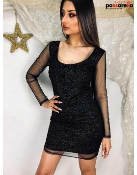 Φόρεμα Μίνι Δαντέλα Μανίκι